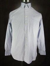 Tommy Bahama Men's Dress Shirt 15 1/2 34/35 White Purple Stripes Long Sleeve BF