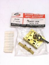"""NOS! CORBIN CHEST LOCK, BRASS, for 3/4"""" THICKNESS, #0142P"""