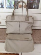 GREAT TOMBOY WIZ BEIGE BRIEFCASE STYLE BAG WITH POUCH USED SOME LIGHT MARKS