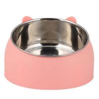 Dog Cat Feeding Bowl Puppy Food Waterer Feeder Stainless Steel Pet Drinking Dish