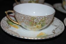 Antique - BP Wurttemberg - Yellow  Rose Cups & Saucers