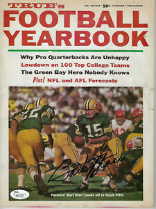1967 PACKERS Bart Starr signed Football Yearbook magazine JSA AUTO Autographed