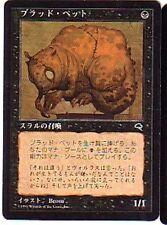 MTG 4X JAPANESE TEMPEST BLOOD PET NM MAGIC THE GATHERING BLACK COMMON CREATURE