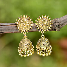 Indian Bollywood Jewelry Gold Plated Sunflower Wedding Jhumka Fashion Earrings
