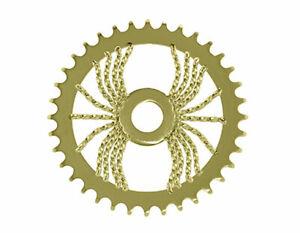 Bicycle LOWRIDER SPROCKET Spider Twisted  1/2 X 1/8 36t  Gold BMX Show Bike