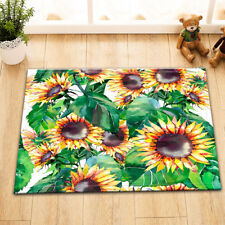 Sunflower Plant Carpet Welcome Porch Door Floor Mat Kitchen Bathroom Nonslip Rug