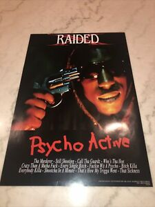 X Raided Psycho Active Rare Poster 13x19 Single Sided Brotha Lynch Hung
