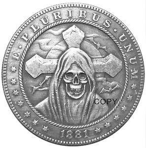 Santa Muerte Novelty V1 Heads Tails Lucky Challenge Coin US SELLER FAST SHIPPING