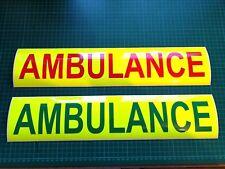 AMBULANCE MAGNETIC Sign Red green Yellow Medic PARAMEDIC RESPONSE SET PAIR