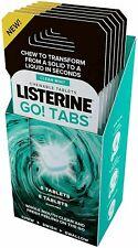 😁 16 LISTERINE GO ! TABS CHEWABLE MOUTH FRESH BREATH FRESHENER CLEAN MINT WASH