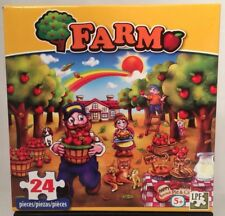 Farm Orchard Scene 24 Piece JIGSAW Puzzle Cute Kids Gift New