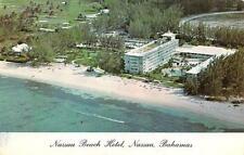 Bahamas,     NASSAU BEACH HOTEL   Roadside  Aerial View    Postcard