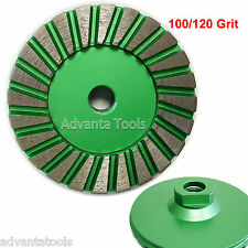 "4"" Premium Turbo Diamond Cup Wheel for Granite Hard Concrete - 100/120 Grit"