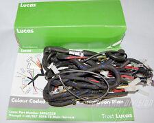 Triumph 1974-77 kabelbaum Gewebe 19-1962 54962258A LUCAS Wiring Harness braided