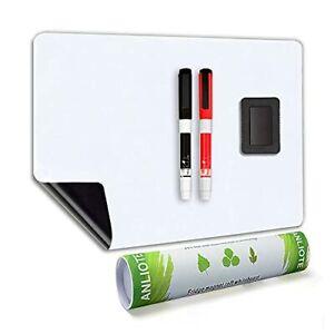 ANLIOTE Magnetic Whiteboard Fridge White Board 20x13 Inch Large Fridge Organiser