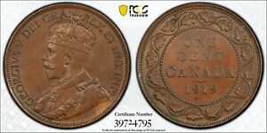 1919 Canada Large Cent PCGS MS63 BN Bronze Registry Coin KM 21