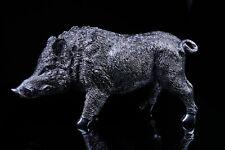 Chrome plated Wild Boar / Pig Sculpture, Modern Art, Gift, Ornament.