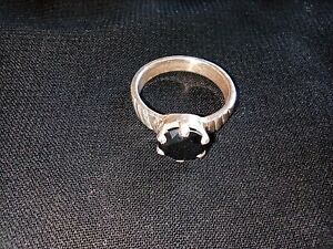 Black Moissanite   wedding Ring With Silver with Round cut Weight 005.5Ggrm