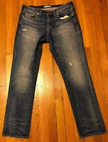 Madewell Women's High Rise Slim Boyjean Distressed Rip Ripped Jeans 29.