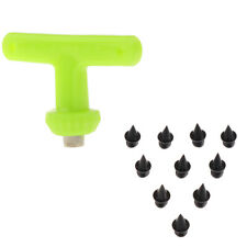 10pcs Carbon Steel Track and Cross Country Pyramid Spikes with Wrench Tool