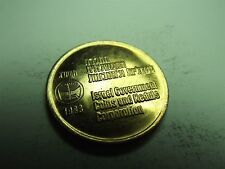 Israel Government Coins and Medals Corporation Temple Mount Brass Medal (4128B)