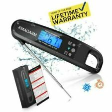 Upgraded 2019 Amagarm Digital Meat Thermometer for Grill & Cooking- Fast Reading