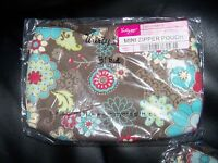 Thirty-one Mini Zipper Pouch FLORAL FANFARE BRAND NEW RETIRED