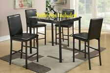 Simple Design Dining Room Metal Framed Leg Counter Height Chairs Faux Leather