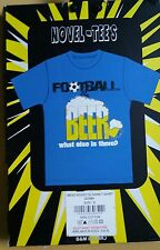 T - Shirt football & beer what else is there? Size small