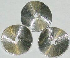10 GEBOGENE KUPFER SCHEIBEN 8 MM,  VERSILBERT 5419.