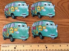 Disney Pixar Cars Movie Fabric Iron On Appliqués. style #14 Fillmore VW Bus van