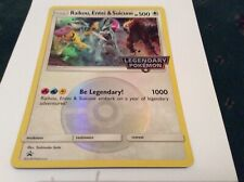 Raikou entei & suicune jumbo Pokémon card