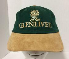 GLENLIVET WHISKEY SCOTLAND Green Tan Pig Leather Baseball Cap Hat