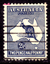 AUSTRALIA #46 2½p DARK BLUE, 1915 Wmk.10, F, USED
