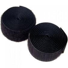2m Self Adhesive Hook and Loop Tape Sew-on Craft Fastener Tape Black/white 25mm Black