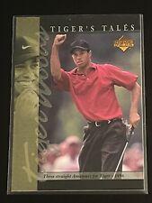 New listing 2001 Upper Deck Golf Tiger Woods Tiger Tales Rookie Card #TT11 GOAT.