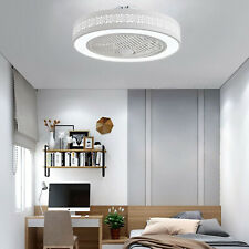 Modern Acrylic Ceiling Fan Light Remote Control LED Lamp Dimmable Light 110V