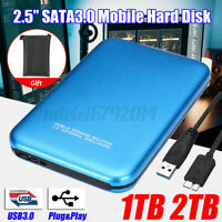 2TB External Hard Drive For Laptop SATA HDD USB3.0 External Disk Storage Blue