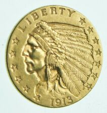 1913 $2.50 Indian Head Gold Quarter Eagle - Walker Coin Collection *965