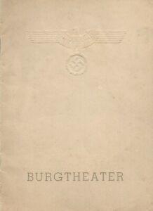 Burgtheater, Vienna 1940-1941 Program for Romeo & Juliet - Reich Eagle, Swastika