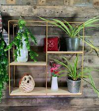 50CM Metal Cube Wall Shelves Storage Display Shelf Children Shelving Gold Black