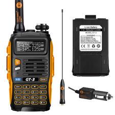 Ultimo Baofeng/Pofung *GT-3 Mark II* + BATTERIA Ricetrasmittente Dual Band Radio