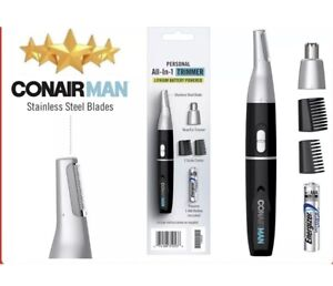 Conair Man Lithium Nose & Ear Hair Personal Trimmer Men All-In-One stainless St.