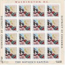 Washington Dc Stamp Sheet - Usa #3813 37 Cent 2003