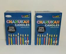"""Rite Lite Chanukah Candles 44ct Lead Free Wicks 3.75"""" Tapers 8 Nights Lot of 2"""