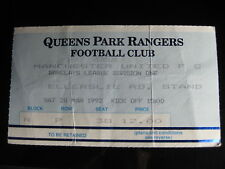 QUEENS PARK RANGERS v MANCHESTER UNITED  28/03/1992  USED TICKET STUB