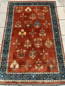 Azeri Teppich Carpet Rug Orient Art Antik Perser Kunst Vintage Gabbeh Loribaft