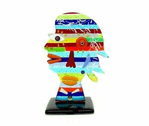Signed & With Certificate Original Italian Picasso Tribute Face Sculpture RARE!