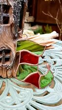Chrismas Decoration Stained Glass Stocking - Handmade - Suncatcher