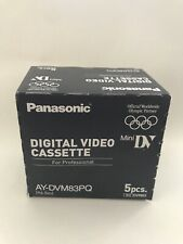 5 X Brand New Panasonic AY-DVM63PQ Professional Mini DV Video Cassette Tapes